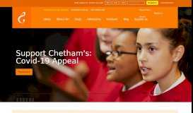 Chetham's School of Music   The UK's largest specialist music school ...