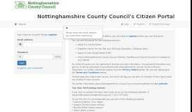 Citizens Portal - Logon - Nottinghamshire County Council