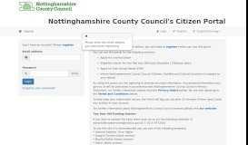 Citizens Portal - Logon - Nottinghamshire County Council