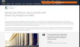 City of Kansas City with Xaqt Case Study - Amazon Web Services (AWS)