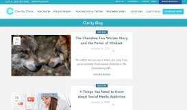 Clarity Clinic Blog - Clarity Clinic