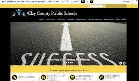 Clay County Public Schools: Home