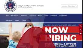 Clay County School District / Homepage