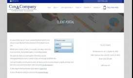 Client Portal - Cox and Company - Lafayette, Indiana