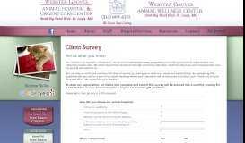 Client Survey - Webster Groves Animal Hospital