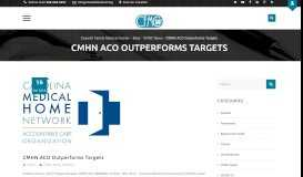 CMHN ACO Outperforms Targets - Caswell Family Medical Center