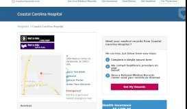 Coastal Carolina Hospital | MedicalRecords.com