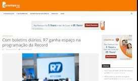 Com boletins diários, R7 ganha espaço na programação da Record