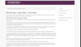 Committee Meeting Dates - Agendas, minutes and reports | The City of ...