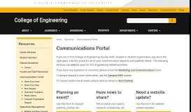 Communications Portal   College of Engineering   Virginia ...