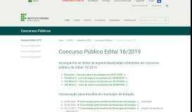 Concurso Público 2019 - Portal do IFSC