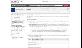 Configure Captive Portal Service, Comodo Dome Firewall Virtual ...