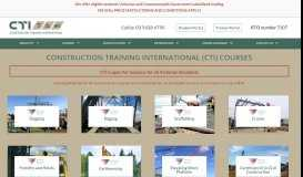 Construction Training International   Construction Courses