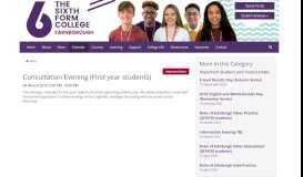 Consultation Evening - The Sixth Form College Farnborough