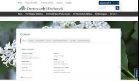 Contact   Dartmouth-Hitchcock