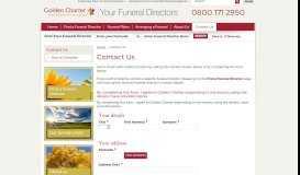 Contact Golden Charter - Your Funeral Directors
