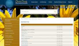 Contact Us | Chester County, PA - Official Website