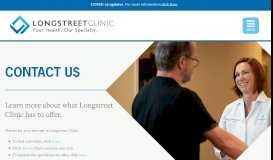Contact Us - Longstreet Clinic