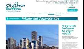 Corporate Linen Hire - City Linen Services