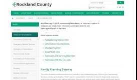 County of Rockland, New York :: Clinics & Immunizations