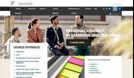 Course offerings | University of Fribourg
