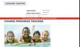 Course Progress Tracker - LeisureCentre.com