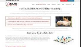 CPR/AED/First Aid Instructor Training and Courses- EMS Safety ...