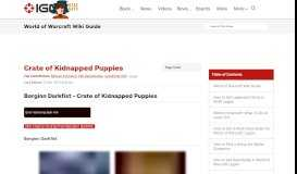 Crate of Kidnapped Puppies - World of Warcraft Wiki Guide - IGN