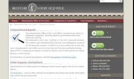 Criminal Record Reports - Kentucky Court of Justice