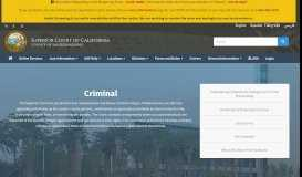 Criminal - San Bernardino Superior Court