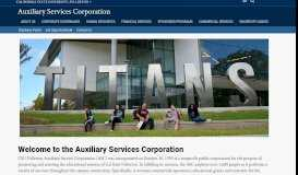 CSUF Auxiliary Services Corporation - Auxiliary ... - Cal State Fullerton