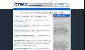 CTESC Policies - CTESC Internet Services