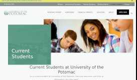 Current Students   University of the Potomac