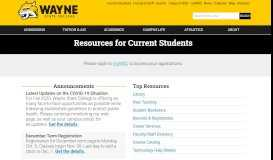 Current Students | Wayne State College
