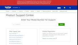 Customer Support - Product Registration - Brother