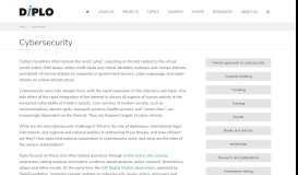 Cybersecurity Portal | DiploFoundation