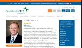 D. Keith Cobb, M.D. | SouthCoast Health