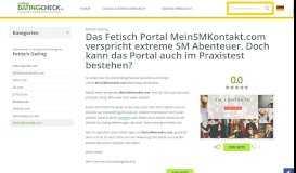 Das Fetisch Portal MeinSMKontakt.com verspricht extreme SM ...