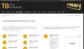 Das Taxi-Portal aus Berlin   Taxi-Bestellung - Taxi in Berlin