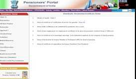 Declaration/Certificate Forms - Pensioners Portal