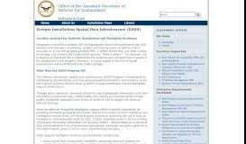 Defense Installations Spatial Data Infrastructure (DISDI)