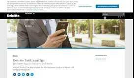 Deloitte Tax & Legal 2go-App | Deloitte Deutschland | Nachrichten ...