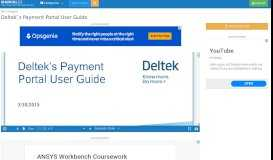 Deltek`s Payment Portal User Guide   manualzz.com
