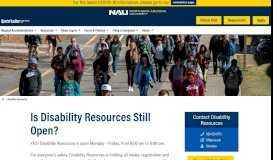 Disability Resources - Northern Arizona University