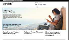 Discounts for Military, Government, Corporate Employees | Verizon ...