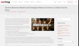 Diverse Business Models and Strategies Make eCommerce a Viable ...