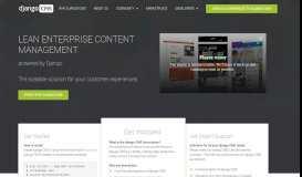 django CMS - Enterprise Content Management with Django - django ...