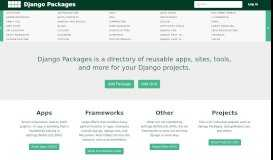 Django Packages : Reusable apps, sites and tools directory