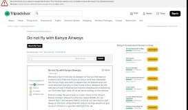 Do not fly with Kenya Airways - Kenya Forum - TripAdvisor