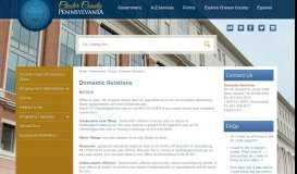 Domestic Relations | Chester County, PA - Official Website